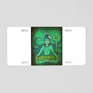 green shiva Aluminum License Plate