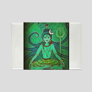 green shiva Rectangle Magnet