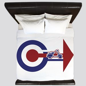 Retro Mod Target and scooter Arrows King Duvet