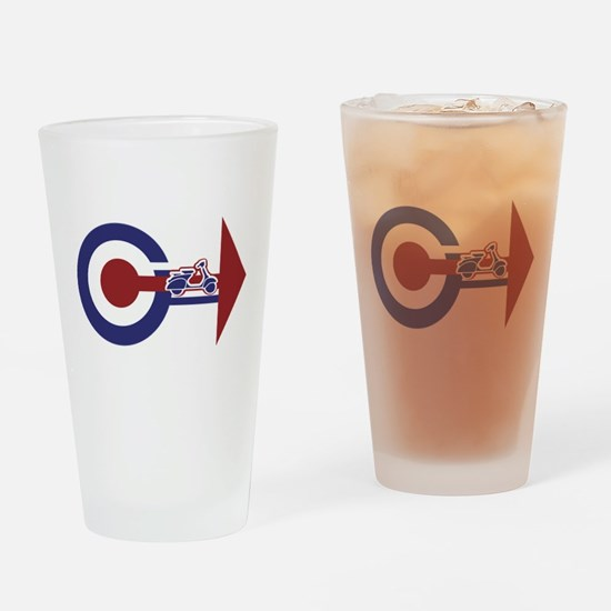 Retro Mod Target and scooter Arrows Drinking Glass