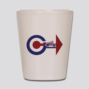 Retro Mod Target and scooter Arrows Shot Glass
