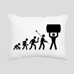 Strong Man Rectangular Canvas Pillow