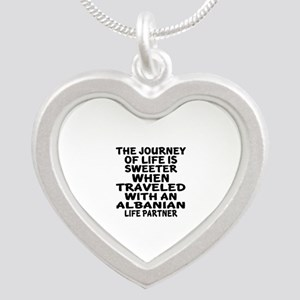 Traveled With Albanian Life Silver Heart Necklace