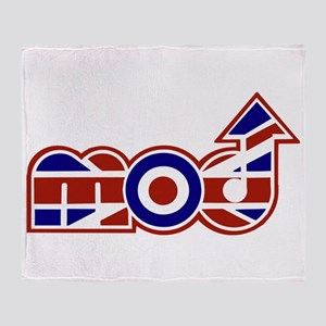 British mod designer Throw Blanket