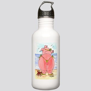 Pig at the beach Stainless Water Bottle 1.0L