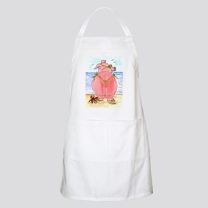Pig at the beach Apron