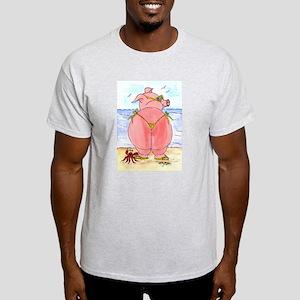 Pig at the beach Light T-Shirt