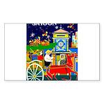 Saigon  Travel and Touri Sticker (Rectangle 10 pk)