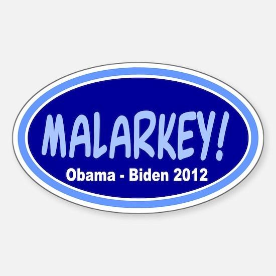 Malarkey: Sticker (Oval)