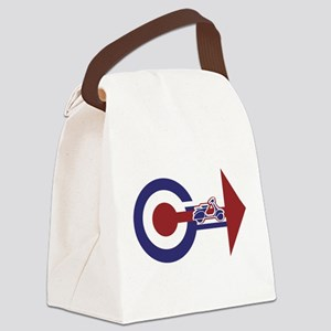 Retro Mod Target and scooter Arrows Canvas Lunch B