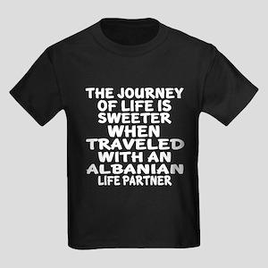 Traveled With Albanian Life Part Kids Dark T-Shirt