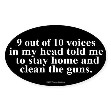 9 out of 10 Voices Oval Sticker