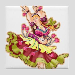 Big-n-Beautiful Tribal Bellydancer! Fair Tile Coas