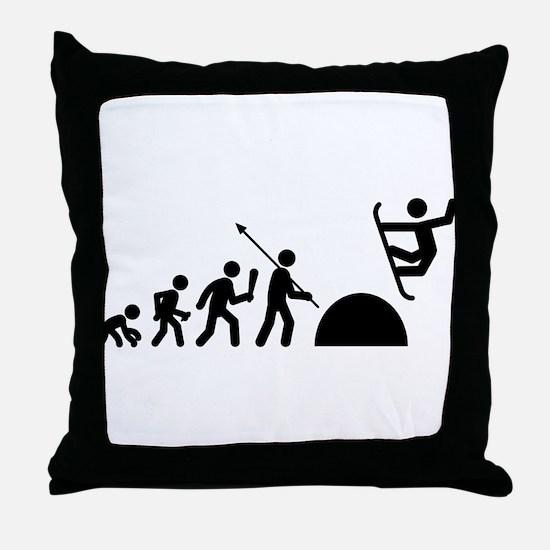 Snowboarding Throw Pillow