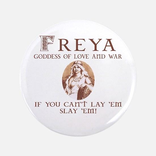 """Freya Love and War 3.5"""" Button"""
