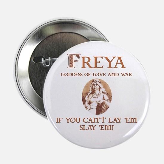 """Freya Love and War 2.25"""" Button"""