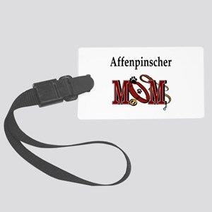 affenpinscher mom Large Luggage Tag