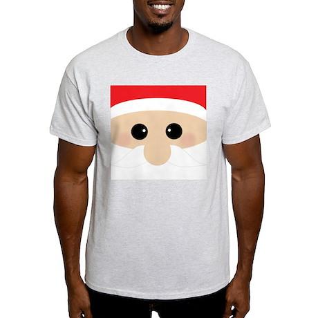 Santas Closeup Funny Light T-Shirt