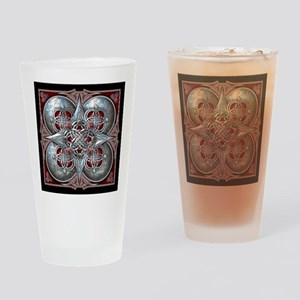 Silver & Red Celtic Tapestry Drinking Glass