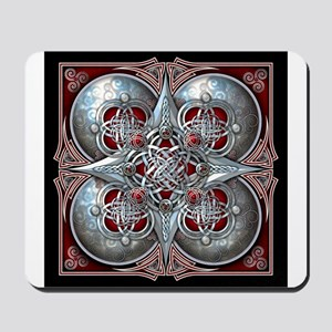 Silver & Red Celtic Tapestry Mousepad