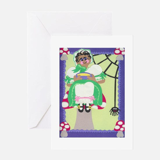 Little Miss Muffet Greeting Card