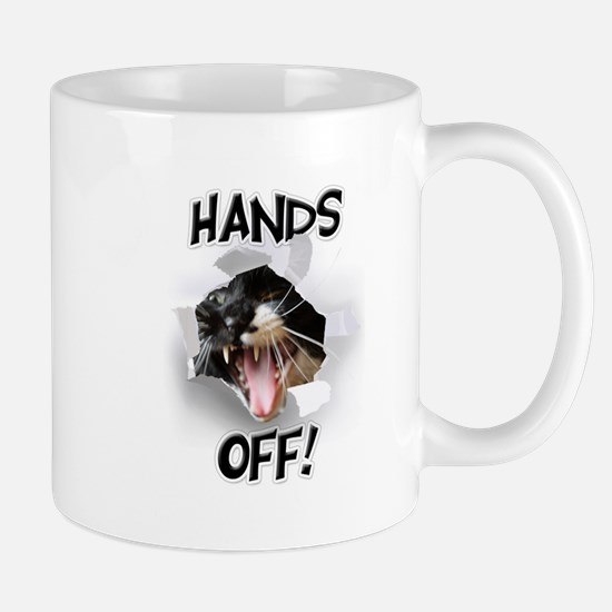 Hands Off Cat Mug