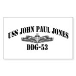 USS JOHN PAUL JONES Sticker (Rectangle 10 pk)