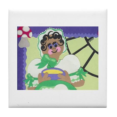 Little Miss Muffet Detail Tile Coaster