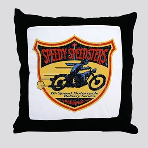 Speedy Speedsters Throw Pillow