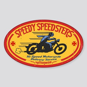 Speedy Speedsters Sticker (Oval)