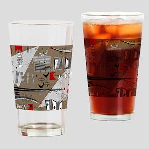 Mid-Century Modern Design Drinking Glass