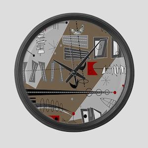 Mid-Century Modern Design Large Wall Clock