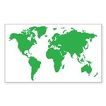 World Map Sticker (Rectangle 50 pk)