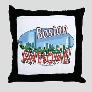 Awesome Boston Throw Pillow