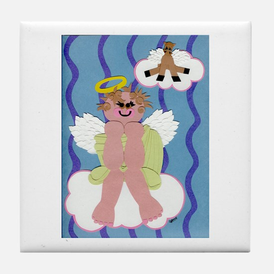 Bitty Angel Tile Coaster