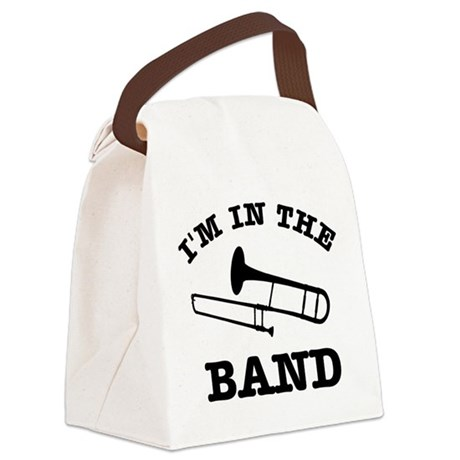 Trombone Gift Items Canvas Lunch Bag