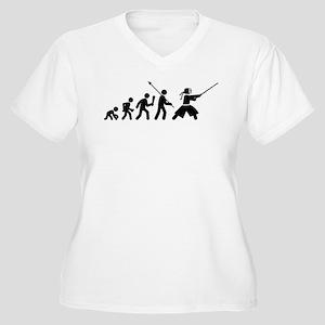 Kendo Women's Plus Size V-Neck T-Shirt