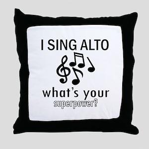Cool Alto Designs Throw Pillow