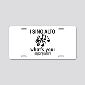 Cool Alto Designs Aluminum License Plate