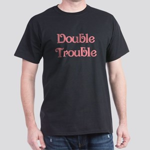 Double Trouble Pink Black T-Shirt