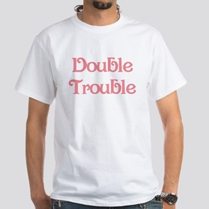 Double Trouble Pink White T-Shirt