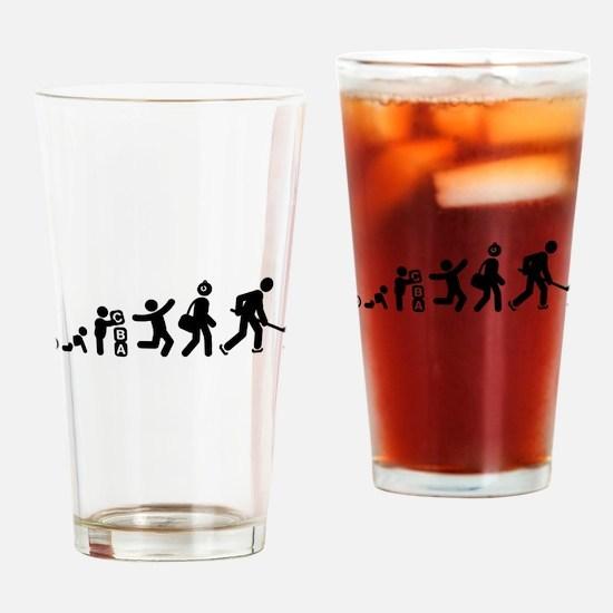 Ice Hockey Drinking Glass