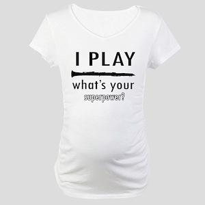 Cool Clarinet Designs Maternity T-Shirt