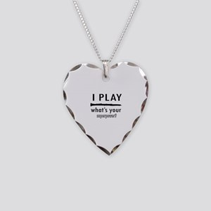 Cool Clarinet Designs Necklace Heart Charm
