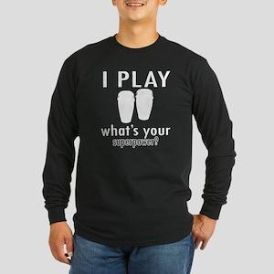 Cool Conga Designs Long Sleeve Dark T-Shirt