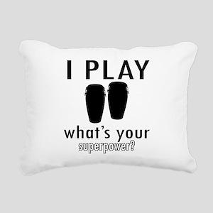 Cool Conga Designs Rectangular Canvas Pillow