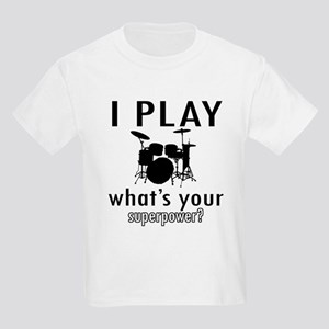 Cool Drums Designs Kids Light T-Shirt