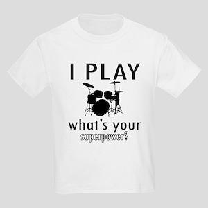 Cool Drums Designs Kids Light T-Shirt