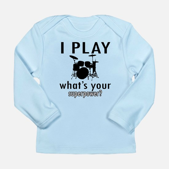 Cool Drums Designs Long Sleeve Infant T-Shirt