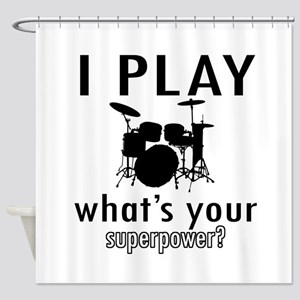 Cool Drums Designs Shower Curtain
